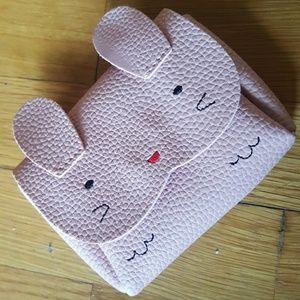 Harajuka Pink Vegan Leather Cat Bag ID Holder
